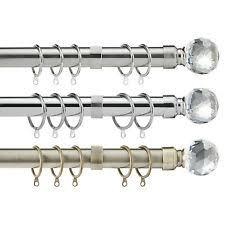 Extendable Curtain Poles by Crystal Curtain Pole Finials Ebay