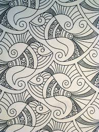 Fish Design And Bird In Next Picture Are From POSH Coloring Book