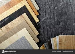 Top View Of Wooden Materials Sample Stock Photo