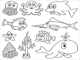 Animal Printable Coloring Pages Sea Animals Free