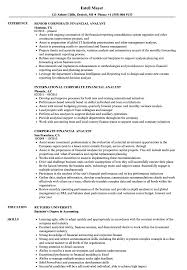Corporate Financial Analyst Resume Samples | Velvet Jobs Analyst Resume Templates 16 Fresh Financial Sample Doc Valid Senior Data Example Business Finance Template Builder Objective Project Samples Velvet Jobs Analytics Beautiful Mortgage Atclgrain Skills Entry Level Examples Credit Healthcare Financial Analyst Resume Pdf For