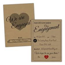 VINTAGE RUSTIC Engagement Invitations