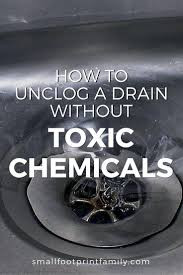 Best Way To Open Clogged Kitchen Sink by How To Unclog A Drain Without Chemicals Small Footprint Family