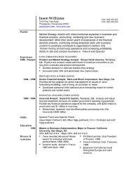 Free Sample Resume Format