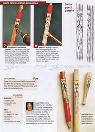 whittling santa pencils wood carving patterns u2022 woodarchivist