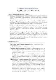 Resume Sample Template For Business System Analyst Architect Researcher