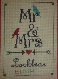 Wedding Announcement For My Son In Law And Wife Arrows Cross Stitch