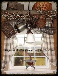 Primitive Kitchen Ideas Pinterest by My Kitchen Window Ladder Hung Above Sink Wrapped With Pip