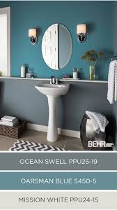 Gray And Aqua Bathroom by Accent Walls Stand Out Even More When Paired With A Sophisticated