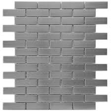 merola tile meta subway 10 1 2 in x 12 1 4 in x 8 mm stainless