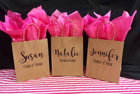Free ShippingPersonalized Bridesmaid Gift BagCustom Bridal