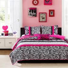 Bedroom Sets For Teenage Girls by Pink Black U0026 White Zebra Print Teen Bedding Twin Full