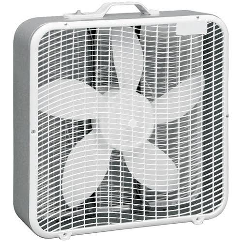 Comfort Zone Box Fan - White