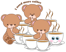 Coffee Bear Clipart