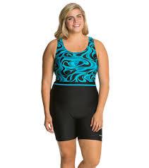 waterpro tango plus size unitard at swimoutlet com free shipping