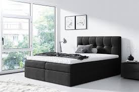 boxspringbett schlafzimmerbett 160x200cm schwarz