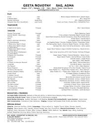 Acting Resume No Experience Template Pictures Of Theater