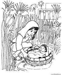 Moses Theme Coloring Pages