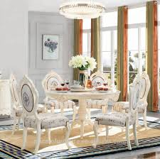 French Romantic Antique Style White Color Marble Round Wood Rotating Dining  Table With 6 Chairs Set - Buy Round Rotating Dining Table,Marble Round ... Liam Ding Set 1 Table 6 Chairs Extendable Teak By Hans Olsen For Price And Buy Seater Round Beige Marble With Wooden Cushioned Chairs With Six Round Table With Chairs Earl Kitchen For Aripeka Solid Mahogany Wood Ding Table Amazoncom Cover Cloth Home Modern Golden Top Luxury My Rectangle Birch White Mdf Nordic Design Setslate Tablehideaway