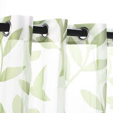 Curtains With Grommets Pattern by Shop Sheer Green Leaf Outdoor Curtains With Grommets 54 X 96