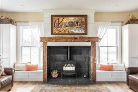 Fireplace With Windowseats On Either Side