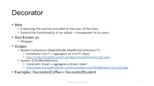 Decorator Pattern Java Io by Patterns In Programming 1 What Are Patterns U201ca Design Pattern Is