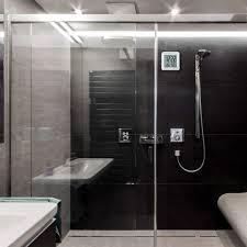 dusche badezimmer wandabsaugung uhr wasserdichte zeitanzeige