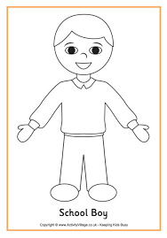 Coloring Pages Of A Boy 7 School Colouring Page