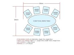 Table Sizes For 8 Oval Dining Size People