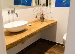 waschtischplatte aus massivem eichenholz rustikal