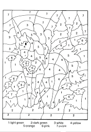 Coloring Pages With Numbers Hard Good Color By Number