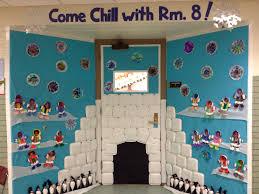 Classroom Door Christmas Decorations Pinterest by Winter Door Decorating Igloo Eskimos Penguin Craft