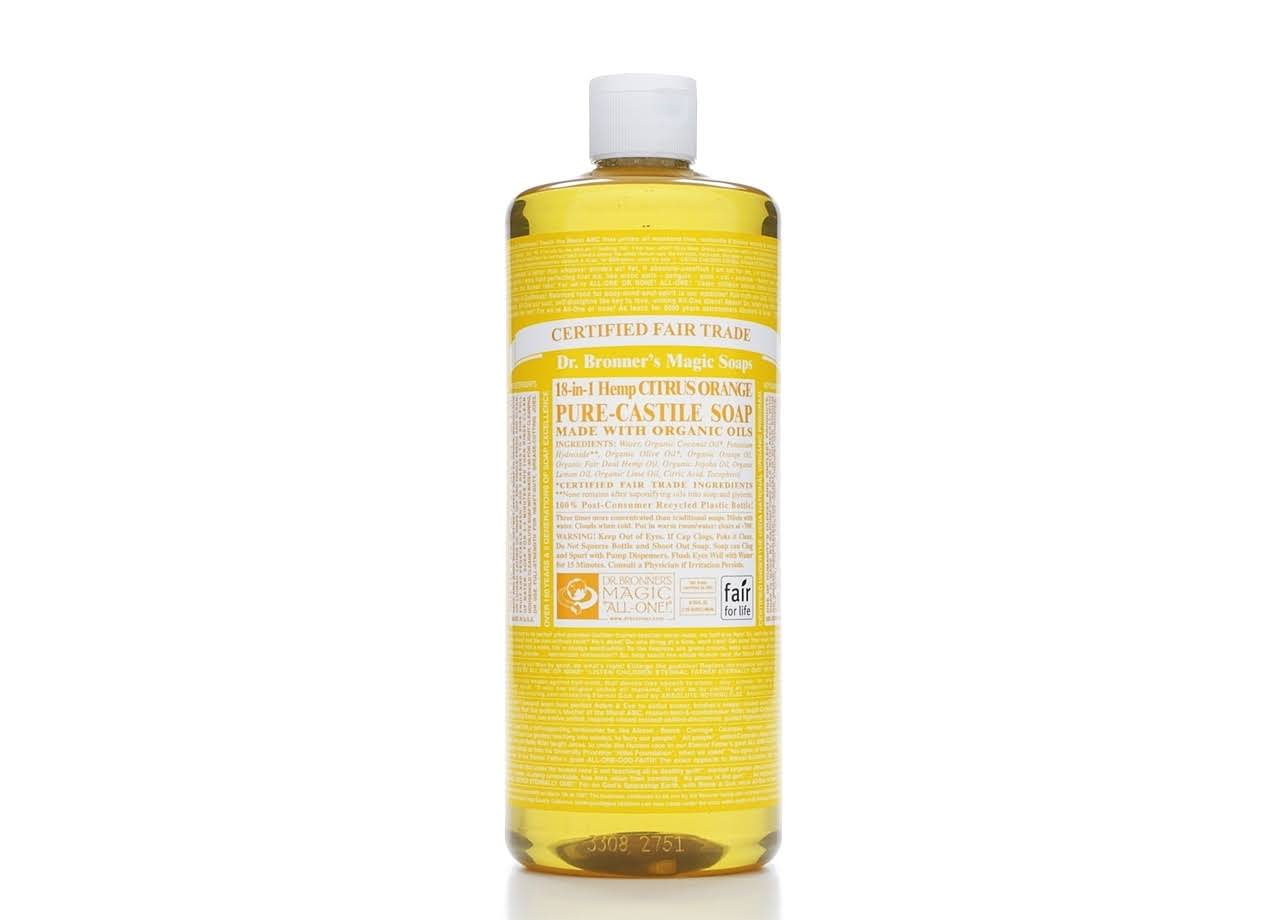 Dr. Bronner's Fair Trade & Organic Castile Liquid Soap - Citrus