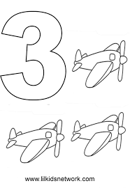 Free Worksheets Coloring Number Pages 3 Page