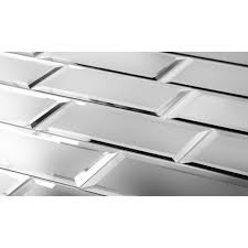 12x12 Mirror Tiles Beveled by Beveled Mirror Tiles