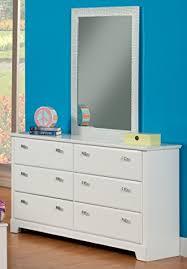 amazon com sandberg furniture hailey 6 drawer dresser with mirror