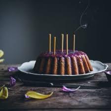 Lemon Poppy Seed Bundt Cake With A Syrup Blueberry Glaze