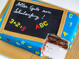 eine einfache torte zur einschulung ofenkieker