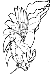 Free Flying Or Leaping Alicorn Unicorn Pegasus Coloring Page