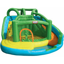 Inflatable Bath For Toddlers by Little Tikes 2 In 1 Wet U0027n Dry Waterslide And Bouncer Walmart Com