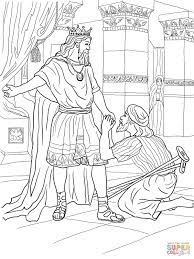 Click The David Helps Mephibosheth Coloring Pages To View Printable Version Or Color It Online Compatible With IPad And Android Tablets