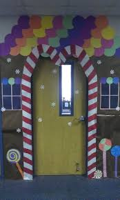 Office Door Christmas Decorating Ideas by Christmas Door Decorating Contest Gingerbread House 25 Unique