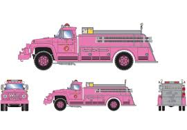 100 Pink Fire Truck Toy Ford F850 Athearn RTR