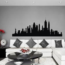 skyline new york wohnzimmer schlafzimmer city stadt