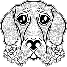 Cute Dog And Cat Coloring Pages Dogs Cats Free Adults