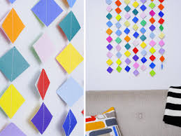 Make Colorful Garland Wall Art With Origami Paper