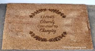 Review Personalized Doormat for Spring Cleverly Changing