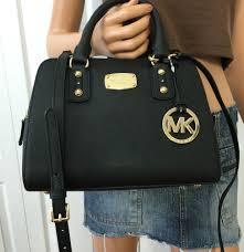michael kors saffiano leather small satchel mk signature crossbody
