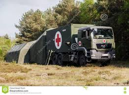 100 German Trucks Rescue Center System On Stands In A Wood Editorial