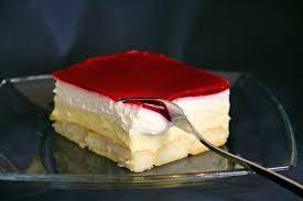 kuchen ohne backen himbeer puddingcreme schnitten kolač